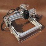 Оригинал 31x26x23 см 12 В 500 МВт Рабочий стол DIY Лазер Гравер Гравировальный Станок Изображение Принтер с ЧПУ