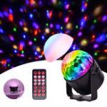 Оригинал Обновление Мини 6 Цветов Хрустальный Шар LED Свет Этапа Голос Дистанционное Управление Лампа для Бар КТВ Партия Диско