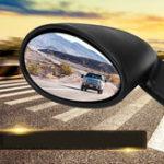 Оригинал California Style Universal Авто Дверное боковое зеркало заднего вида Винтаж Матовый черный L + R