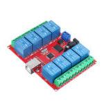 Оригинал 8-канальный 12-вольтовый компьютер USB-переключатель управления Free Drive Relay Модуль ПК Интеллектуальный контроллер