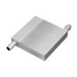 Оригинал 60x60x12 мм Алюминиевый блок водяного охлаждения для процессора Радиатор охлаждения полупроводникового процессора