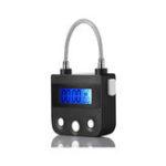 Оригинал 99 часов USB перезаряжаемый тайм-аут Padlock Max Timing Замок Цифровой таймер Тревожный замок C LCD Дисплей Экран