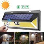 Оригинал Solar Power 180 COB LED PIR Motion Датчик Настенный светильник На открытом воздухе Сад Двор Лампа Водонепроницаемы