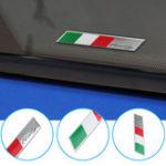 Оригинал Алюминий Авто Наклейка с надписями Италия Государственный флаг Значок крыла / эмблемы багажника Подходит для Alfa Ro meo FIAT