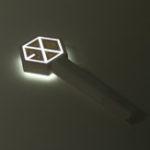 Оригинал Kpop EXO Official Light Палка VER.3.0 Версия в Сеуле Концерт Палка + Фотокарточные украшения