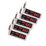 Оригинал 5Pcs URUAV 3.8V 620mAh 40C / 80C 1S HV 4.35V Lipo Батарея PH2.0 Штекер для FPV RC Дрон