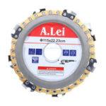 Оригинал Drillpro Gold 4-1 / 2 дюймов Цепной диск для шлифовальной машины 7 зуборезный диск для 125-угольной шлифовальной машины