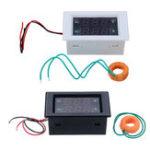 Оригинал Переменный ток трехфазный 300 В 10A LED Двойной Дисплей Вольтметр переменного тока Цифровой измеритель тока Дисплей