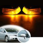Оригинал Поворот правого бокового зеркала заднего вида Авто Фонари янтарного цвета LED Для Honda Civic 2006-2011