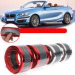 Оригинал 1M x 7cm / 1M x 5cm Универсальные Авто Наклейки Авто из углеродного волокна Резиновая накладка на пороги Защитная накладка на бампер