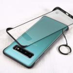 Оригинал Bakeey Бескаркасные Матовый Противоударный Анти-отпечатков пальцев С Металлическим Кольцом ПК Прозрачный Защитный Чехол для Samsung Galaxy S10 Plus