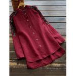 Оригинал Асимметричная блуза из хлопковой вышивки