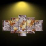 Оригинал 5 Панелей Без Рамы Карта Мира Печать на Холсте Картины Стены Спальни Дома Художественные Украшения