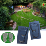 Оригинал Цементный Кирпич Плесень Walk Walk Maker Пара Ноги Плесень DIY Бетонные Формы Многоразовые Пластиковые P ath Maker Steeping Stone Paver