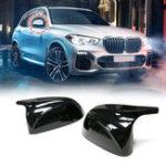 Оригинал Глянцевая черная сторона Авто Крышка зеркала Для BMW X3 G01 2018 + Для BMW X4 G02 2018 + Для BMW X5 G05 2018 + Для BMW X7 G07 2018 +