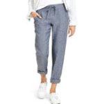 Оригинал Женские брюки цвета Pure Color Elastic 3884085