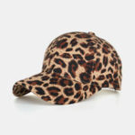Оригинал Women Men Leopard Baseball Cap Breathable Sun Hat