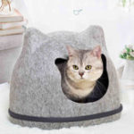 Оригинал Heypet Кот Кровать Pet House Котs Mat Pet Hole Скамья для дома Собака Puppy Home Nest Pet Кот Уши Питомник Pet Mat