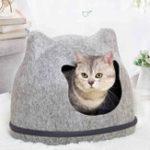 Оригинал Heypet Кот Кровать Pet House Котs Mat Pet Hole Скамья для дома Собака Puppy Home Nest Pet Кот Уши Питомник Pet Mat