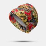 Оригинал Women Printed Turban Cap Sponge Plate Beanie Cap