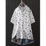Оригинал Блуза с принтом в горошек