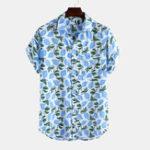 Оригинал Мужская груша с коротким рукавом с принтом Practial Pocket Casual Рубашка