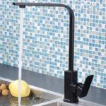 Оригинал Modern Kitchen Sink Taps Mixer Single Lever Tap Square Mono Basin Brass Faucet