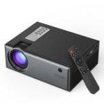 Оригинал Blitzwolf® BW-VP1 LCD Проектор Поддержка 1800 люменов 1080P Ввод нескольких портов Портативный умный домашний кинотеатр Проектор с Дистанционное Управ