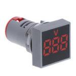 Оригинал 10шт красный 22 мм переменного тока 12-500 В вольтметр квадратная панель LED цифровой индикатор напряжения индикатор