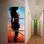 Оригинал Miico Ручная Роспись Три Комбинации Декоративных Росписей Wonder Woman Wall Art Для Украшения Дома