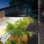 Оригинал Солнечные Кулон Свет Дистанционное Управление Висячие Лампа Водонепроницаемы Двор Сад