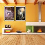 Оригинал Miico Hand Painted Combination Decorative Paintings Dream Word Horse Wall Art For Home Decoration