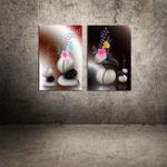 Оригинал Miico Hand Painted Combination Decorative Paintings Flower Painting Wall Art For Home Decoration