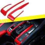 Оригинал 2 X Красный Интерьер Авто Панель Переключения Передач Крышка Рамки Отделка Для Honda Civic 10th 2016-2018