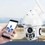 Оригинал INQMEGA 388 PTZ HD 1080P Водонепроницаемы IP камера H.264 Инфракрасная ночная версия Обнаружение M-otion 360 ° Домашний WIFI камера Детские мониторы
