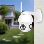 Оригинал BESDER XMP200 1080P H.265 Скорость Dome На открытом воздухе Wi-Fi Беспроводная Pan Tilt IP камера 2-сторонняя аудио SD-карта IR Vision IP ONVIF Видеонаблюдение