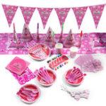 Оригинал 16Pcs Children's Birthday Party Supplies Kids Napkin Banner Tableware Decorations