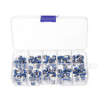 Оригинал Сине-белый регулируемый резистор RM065 Горизонтальный сине-белый регулируемый резистор RM065 Обычно используется 10 спецификаций каждый 10