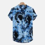 Оригинал Мужские рубашки с абстрактным принтом и воротником Henley