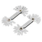 Оригинал 20PC Blades Metric 55°/60° Screw Pitch Thread Measuring Gauge Dual Gage Tool