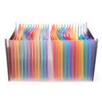 Оригинал 24 кармана Многоцветный Удобный Расширение A4 Папка с файлами