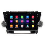 Оригинал 10,2 дюймов для Android 8,1 Авто Стерео Радио Quad Core 1 ГБ + 16 ГБ Сенсорный экран GPS WiFi для Toyota Highlander 2009-2013