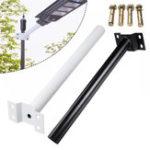 Оригинал  40 СМ Черный Белый На открытом воздухе Гибкая Регулировка Фонарный столб для LED Солнечная Улица Лампа