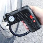 Оригинал 12 В Портативный Воздушный Шин Надувное Насос LED Безопасность Hammer Компрессор Беспроводной Для мотоцикл Электрический Авто Авто Велосипед