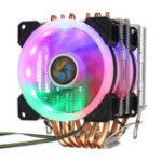 Оригинал Процессорный кулер 6 Heatpipe 4-контактный RGB 2x вентилятор охлаждения для Intel 775/1150/1151/1155/1156 / 1366AMD