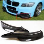 Оригинал 2 ШТ. Углеродного Волокна Доска Передний Бампер Splitter Губы для BMW E90 335i 328i LCI M-Tech Бампер