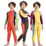 Оригинал Kids Boy UV Защитный цельный гидрокостюм для подводного плавания
