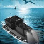 Оригинал 500 метров Интеллектуальная Дистанционное Управление Двойная кабина Рыбалка RC Лодка На открытом воздухе Многофункциональная охота Лодка