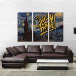 Оригинал Miico Ручная Роспись Три Комбинированные Декоративные Картины Звездное Sky Wall Art Для Украшения Дома