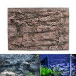 Оригинал Аквариум 3D Пена Рок Камень Fish Tank Фон Фон Рептилий Доска Украшения